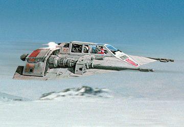 Snowspeeder planeta helado de Hoth el Imperio contraataca episodio V