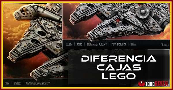 Diferencia entre las cajas LEGO de Europa y America