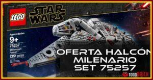 Oferta Halcon Milenario de LEGO set 75257