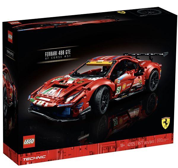 Caja del Ferrari 488 GTE de LEGO Technic
