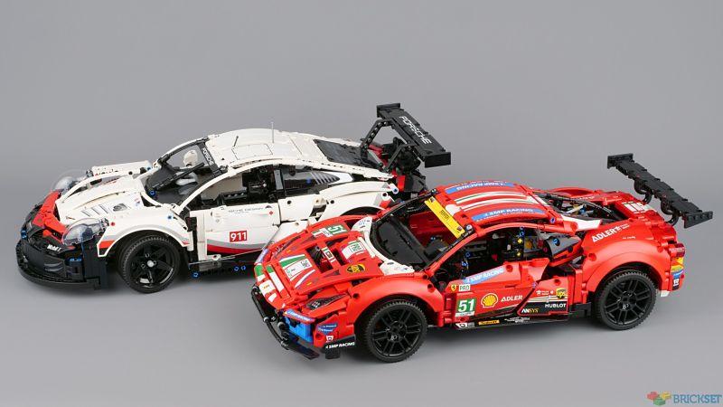 Ferrari 488 GTE LEGO 42125 vs Porsche 911 RSR LEGO 42096