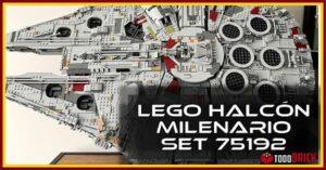El Halcon Milenario de LEGO montado y expuesto