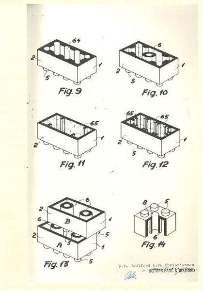 Patente original del ladrillo de LEGO 2