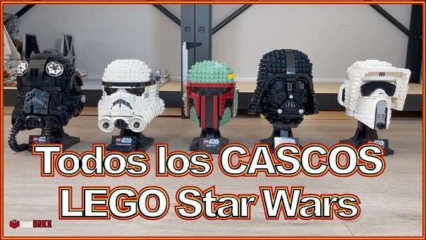 Todos los cascos de lego star wars